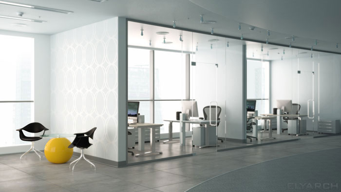 concept interior for an office space arrangement