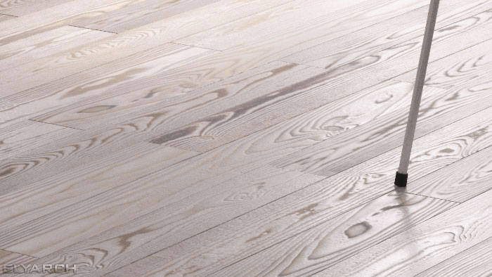 floor boards - a detail from an interior concept for an opn plan apartment in scandinavian style