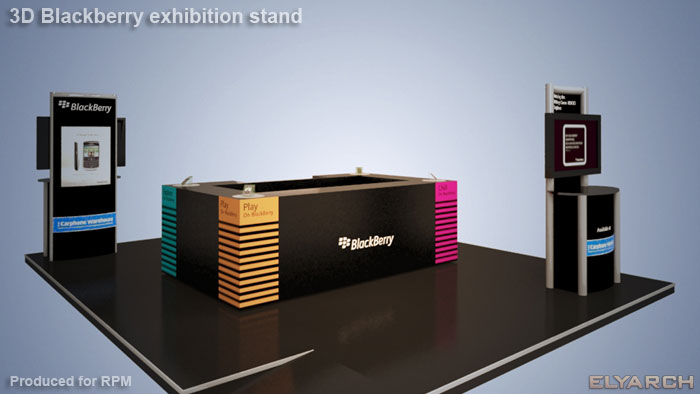 promotional stand for Blackberry