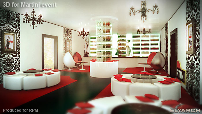 3D concept for Martini event