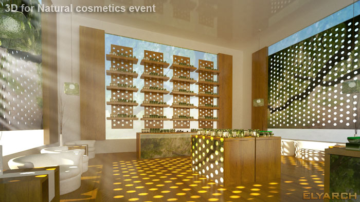 3D for a new natural cosmetics brand