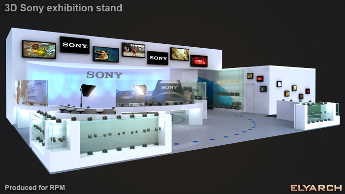 exhibition stand for Sony