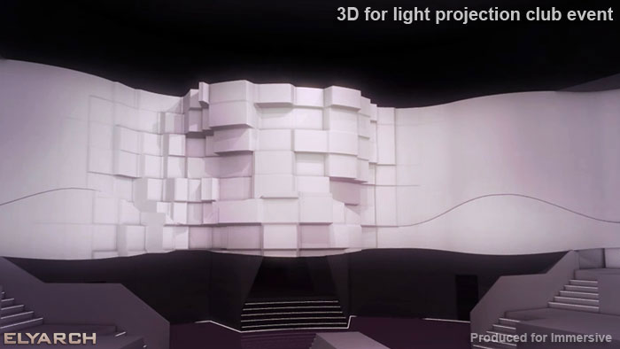 3D for light projection club event